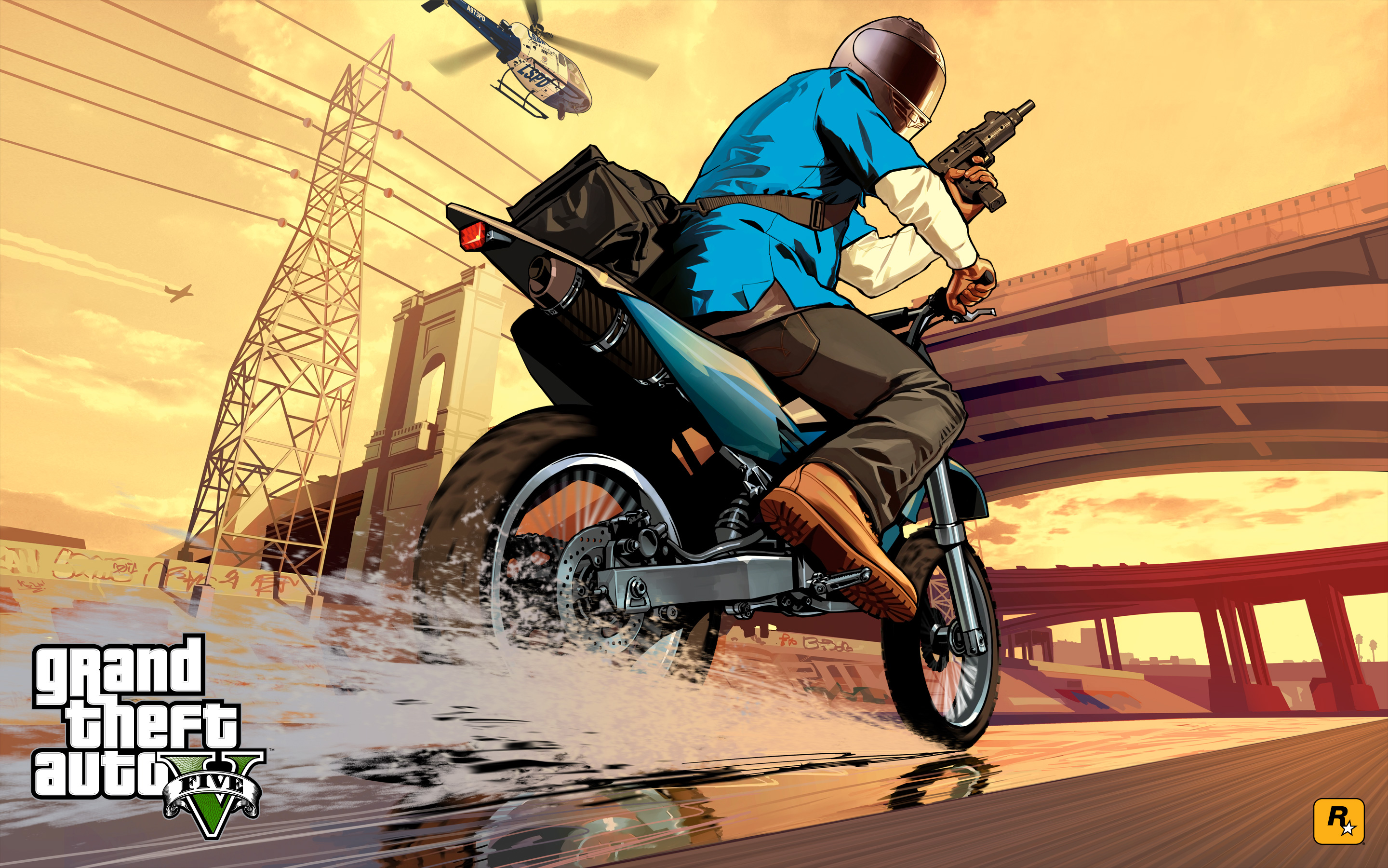 gtav artwork: jetski and sanchez